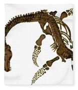 Pleisiosaurus, Mesozic Marine Reptile Fleece Blanket