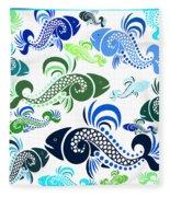Plenty Of Fish In The Sea 4 Fleece Blanket