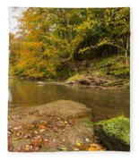 Plessey Woods And The River Blyth Fleece Blanket