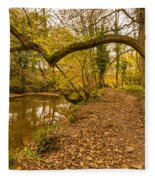 Plessey Woods Riverside Footpath Fleece Blanket