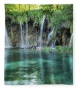 Plitvice Falls Fleece Blanket