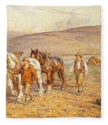 Ploughing Fleece Blanket