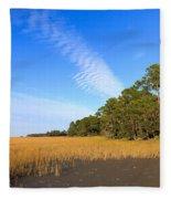 Pluff Mud And Salt Marsh At Hunting Island State Park Fleece Blanket