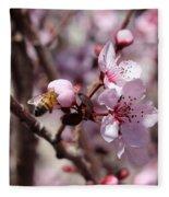 Plum Blossoms 12 Fleece Blanket