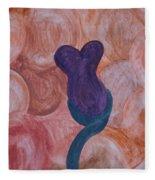 Plum Flower Fleece Blanket