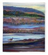 Plum Island Salt Marsh Sunset Fleece Blanket