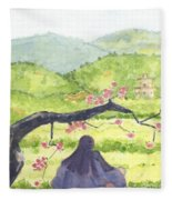 Plumb Blossom Love Fleece Blanket