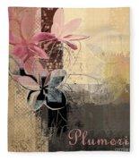 Plumeria - 64-115152167m4t3b Fleece Blanket