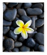 Plumeria Pebbles Fleece Blanket