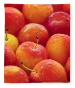 Plums  Fleece Blanket