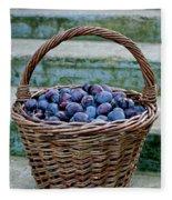 Plums In A Basket, Southern Bohemia Fleece Blanket