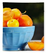 Plums In Bowl Fleece Blanket