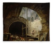 Plundering The Royal Vaults At St. Denis In October 1793 Oil On Canvas Fleece Blanket