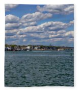 Plymouth Harbor Fleece Blanket