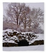 Plymouth Meeting Lime Kilns In The Snow Fleece Blanket