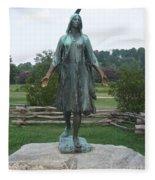 Pocahontas Sculpture Fleece Blanket