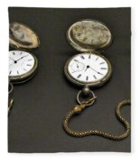 Pocket Watches Fleece Blanket