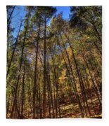 Pocono Trees Fleece Blanket