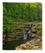 Poconos Ledges Waterfall Fleece Blanket