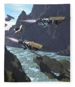 Pod Racers Competing For The Lead Fleece Blanket