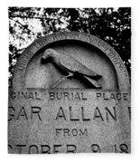 Poe's Original Burial Place Fleece Blanket