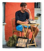 Poet For Hire - Paint Fleece Blanket
