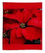 Poinsettia # 2 Fleece Blanket