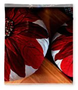 Poinsettias - Handmade - Crafts - Pumpkins Fleece Blanket