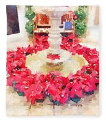 Poinsettias Fleece Blanket