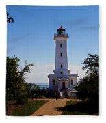 Point Abino Lighthouse Path Fleece Blanket