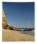 Point Dume At Zuma Beach Fleece Blanket