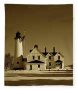 Point Iroquois Light Station Fleece Blanket