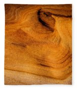 Point Lobos Abstract 10 Fleece Blanket