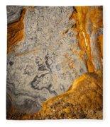 Point Lobos Abstract 12 Fleece Blanket