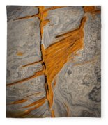 Point Lobos Abstract 13 Fleece Blanket