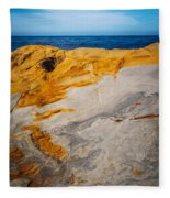 Point Lobos Abstract 14 Fleece Blanket