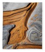 Point Lobos Abstract 5 Fleece Blanket