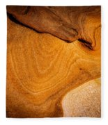 Point Lobos Abstract 9 Fleece Blanket