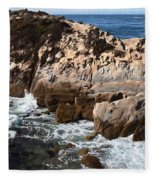 Point Lobos Coast 2 Fleece Blanket