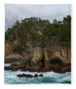 Point Lobos Coastal View Fleece Blanket