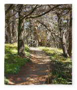 Point Lobos Cypress Path Fleece Blanket