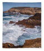 Point Lobos Surf Fleece Blanket
