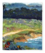 Point Lobos Trail Fleece Blanket