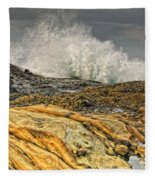 Point Lobos Wave Fleece Blanket