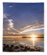 Point Of The Sunset Fleece Blanket