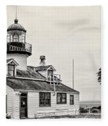 Point Pinos Lighthouse By Diana Sainz Fleece Blanket