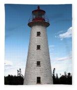 Point Prim Lighthouse 3 Fleece Blanket