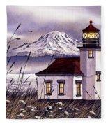 Point Robinson Lighthouse Fleece Blanket