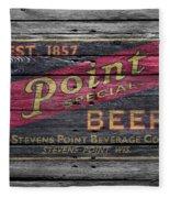 Point Special Beer Fleece Blanket