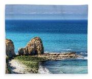 Pointe Du Hoc Fleece Blanket